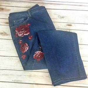 Gloria Vanderbilt Embroidered Jeans - Size 20W